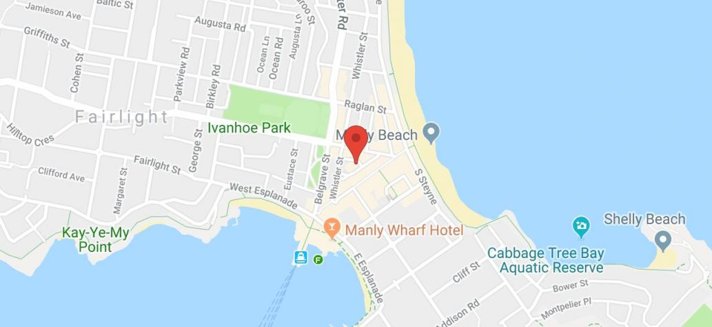 Map of Screen Printing Workshop at Manly Library