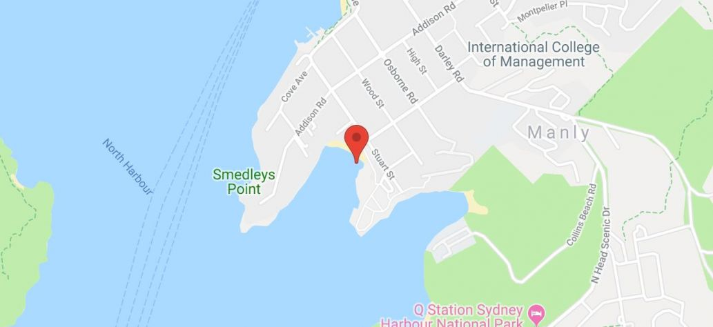Map of Little Manly Cove
