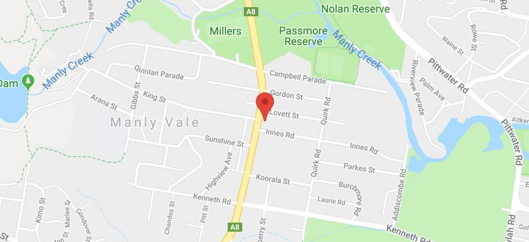 Map of Manly Vale Community Centre