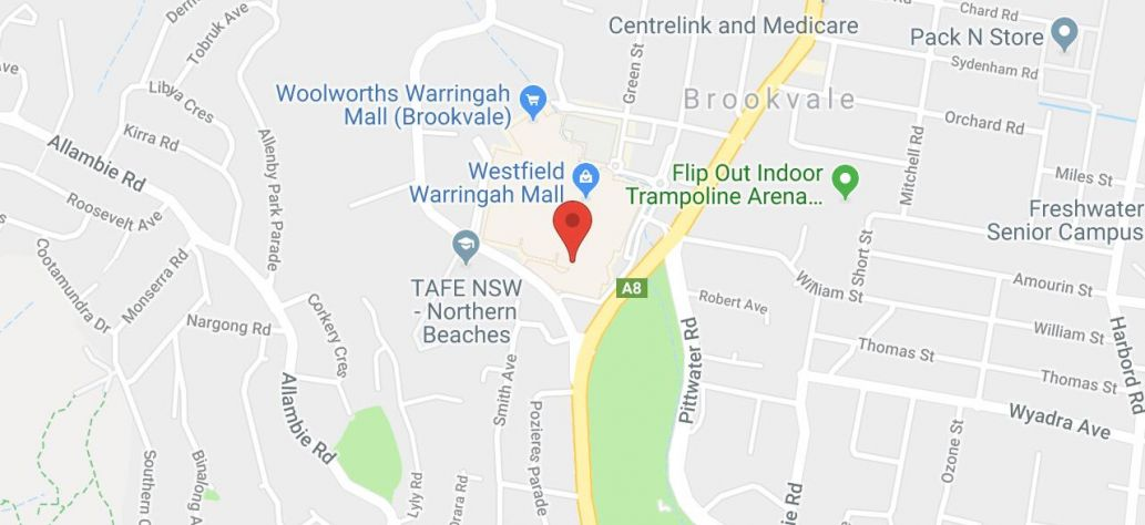 Map of HSC Lock-Ins at Warringah Mall Library