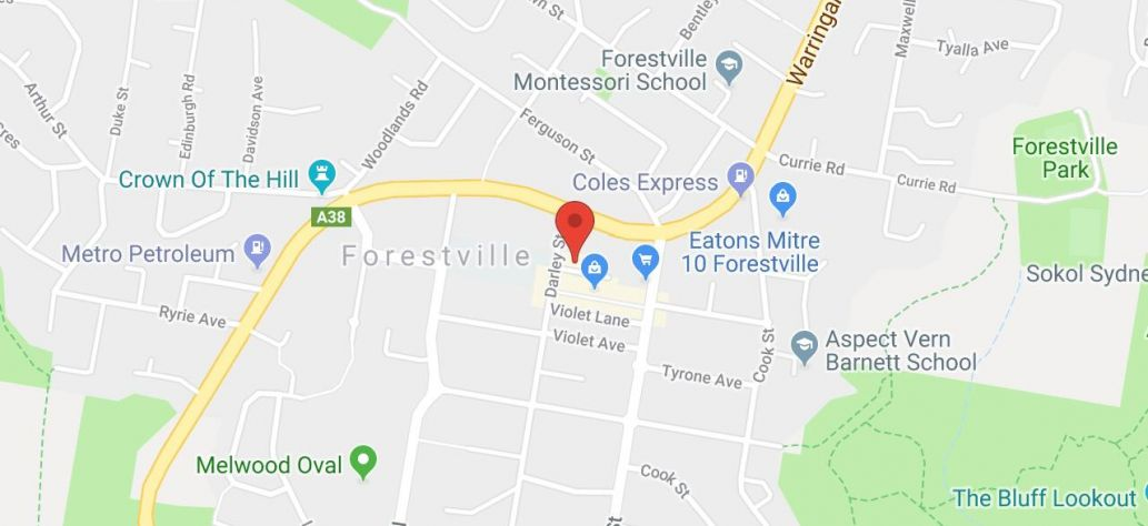 Map of HSC Lock-Ins at Forestville Library