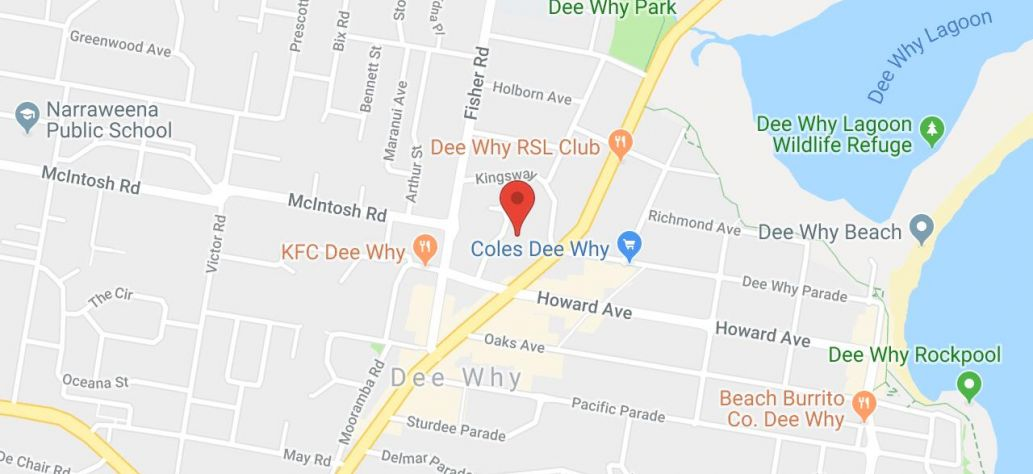 Map of HSC Lock-Ins at Dee Why Library