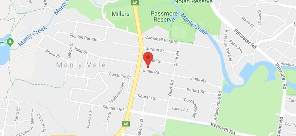 Map of Manly Vale Community Garden