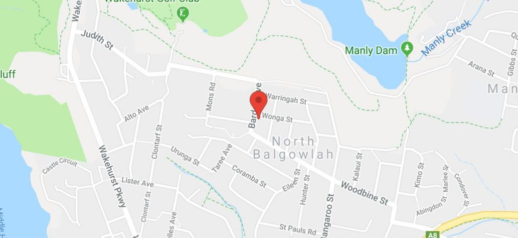 Map of North Balgowlah Community Centre