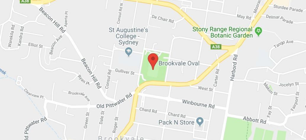 Map of Brookvale Oval and Park