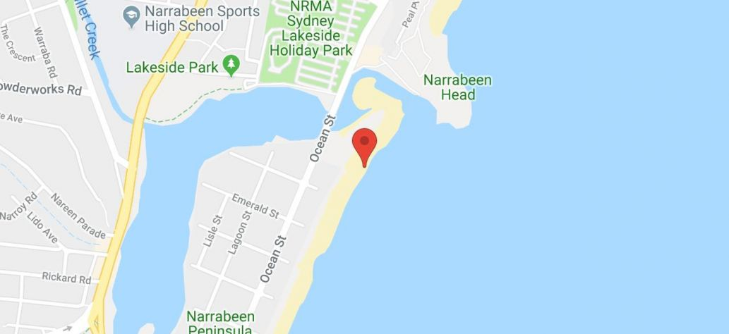 Map of North Narrabeen Beach