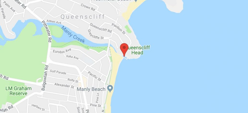 Map of Queenscliff Rockpool