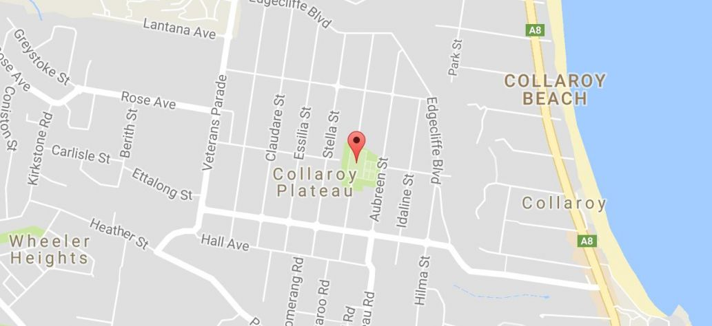 Map of Plateau Park (also known as Collaroy Plateau Park)