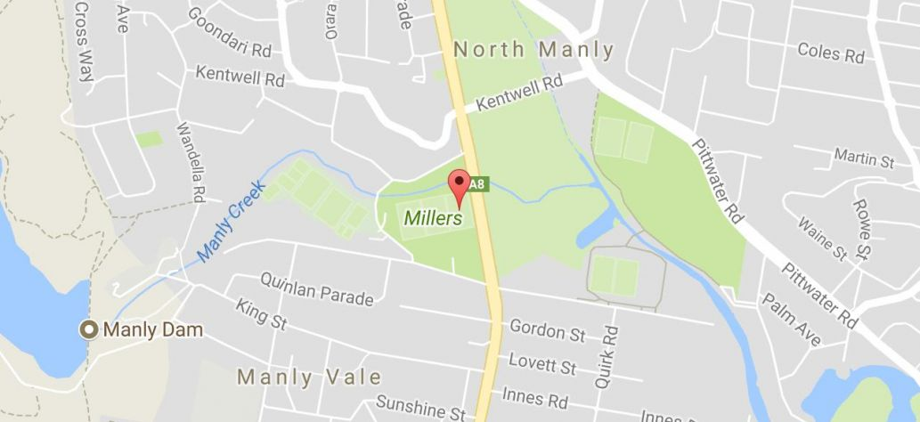 Map of Miller Reserve