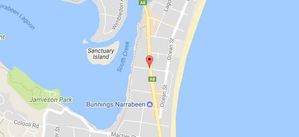 Map of Narrabeen Lagoon State Park