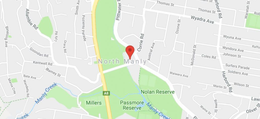 Map of Warringah Recreation Centre - Tennis