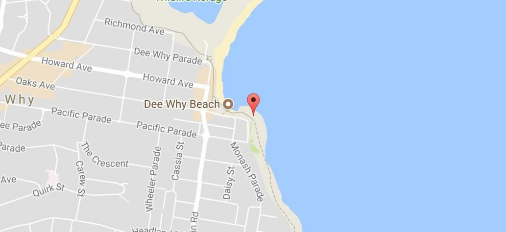 Map of Dee Why Rockpool