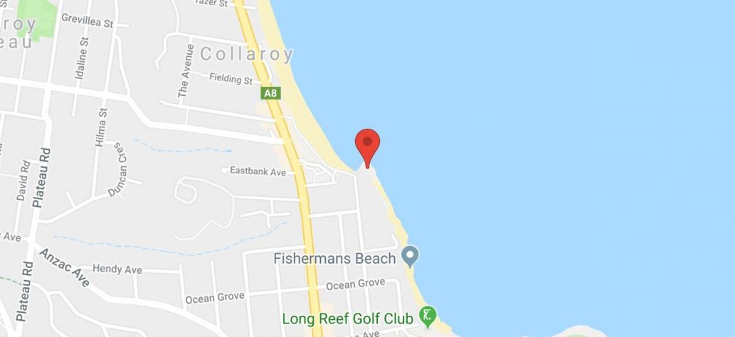 Map of Collaroy Rockpool