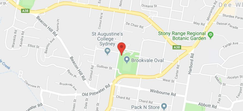 Map of Brookvale Oval Basketball Court