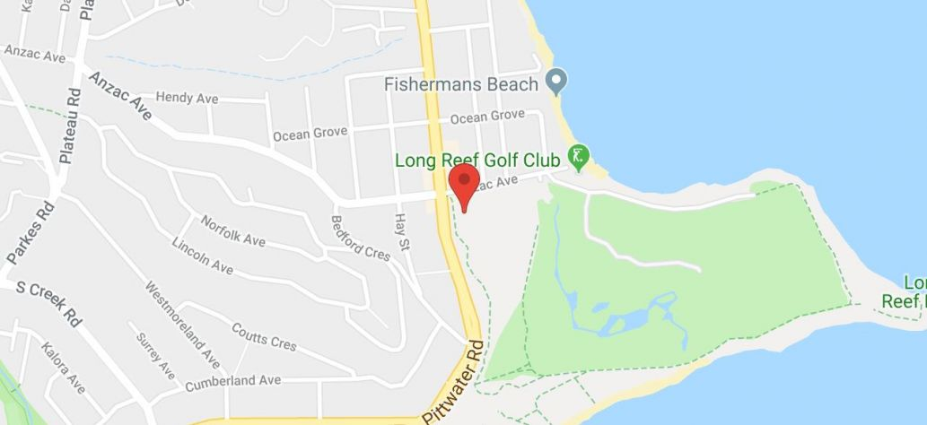 Map of Collaroy Tennis Club