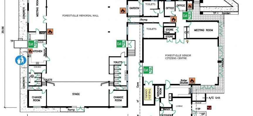 Forest Memorial Hall and Forest Senior Citizens Floor Plan