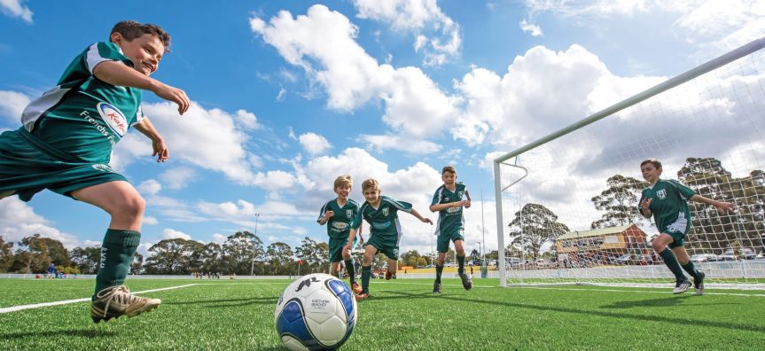 Soccer is a big sport on the Northern Beaches