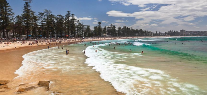 Beautiful iconic Manly Beach