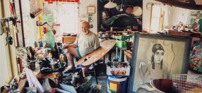 Image: Jurgis Miksevicius in his Killara studio, 2004. Photo by Rodney Weidland