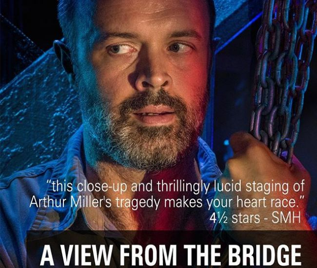 """A View From The Bridge, nominated for 7 GLUGS AWARDS including Most Outstanding Independent Production, Most Outstanding Direction and 4 actor nominations, opens 30 Jan 2018. """"this close-up and thrillingly lucid staging of Arthur Miller's tragedy makes your heart race."""" - Sydney Morning Herald A VIEW FROM THE BRIDGE 30 Jan - 4 Feb Bookings: glenstreet.com.au/whats-on/view-bridge (limited tickets available!) #2017glugsawards #aviewfromthebridge #glenstreettheatre"""