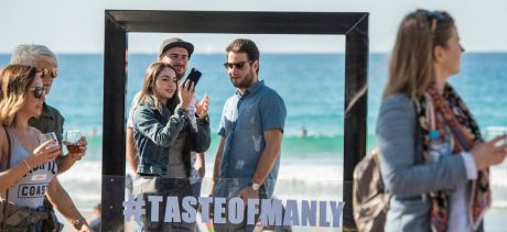 People taking selfie at Taste of Manly event