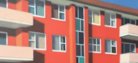 Peter O'Doherty, Somewhere to live, 2017, acrylic on canvas, 152 x 152cm