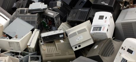 Old discarded computers