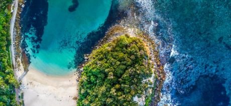 Aerial image of Shelley Beach
