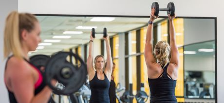 Girl working out at Manly Andrew Boy Charlton Fitness Centre