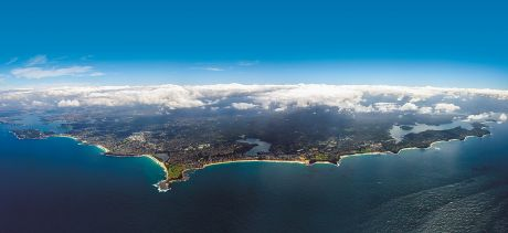 Aerial view of the Northern Beaches