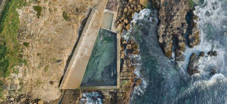 aerial view of Avalon rockpool